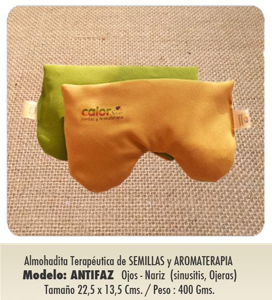 Modelo : ANTIFAZ - OJOS / NARIZ / Almohadita de Semillas y Aromaterapia /  especial sinusitis, ojeras