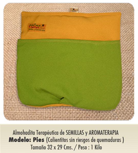 Modelo : PIES / de Semillas y Aromaterapia / Tamaño - 32 x 29 cms . Peso : 1 kilo