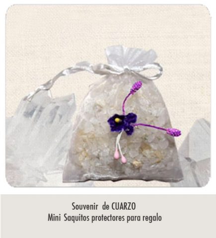 Souvenir de Cuarzo / Saquitos  con logotipo y textos para regalos de Empresas, bautismos, bodas Etc.