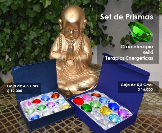 set de prismas, Cromoterapia, Reiki